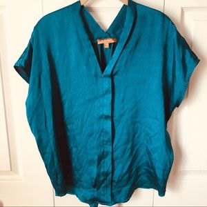 Ellen Tracy - Teal Blouse